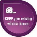 No need to change window frames